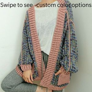 Sweaters - Custom yarn colors for the reversible cardigan